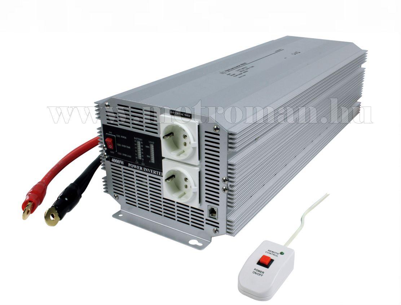 Feszültségátalakító , inverter  , 4000 W , HQ-INV4000/ 24 / 230 Volt