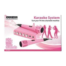 Karaoke keverő és mikrofon készlet, König HAV-KM10P csajoknak