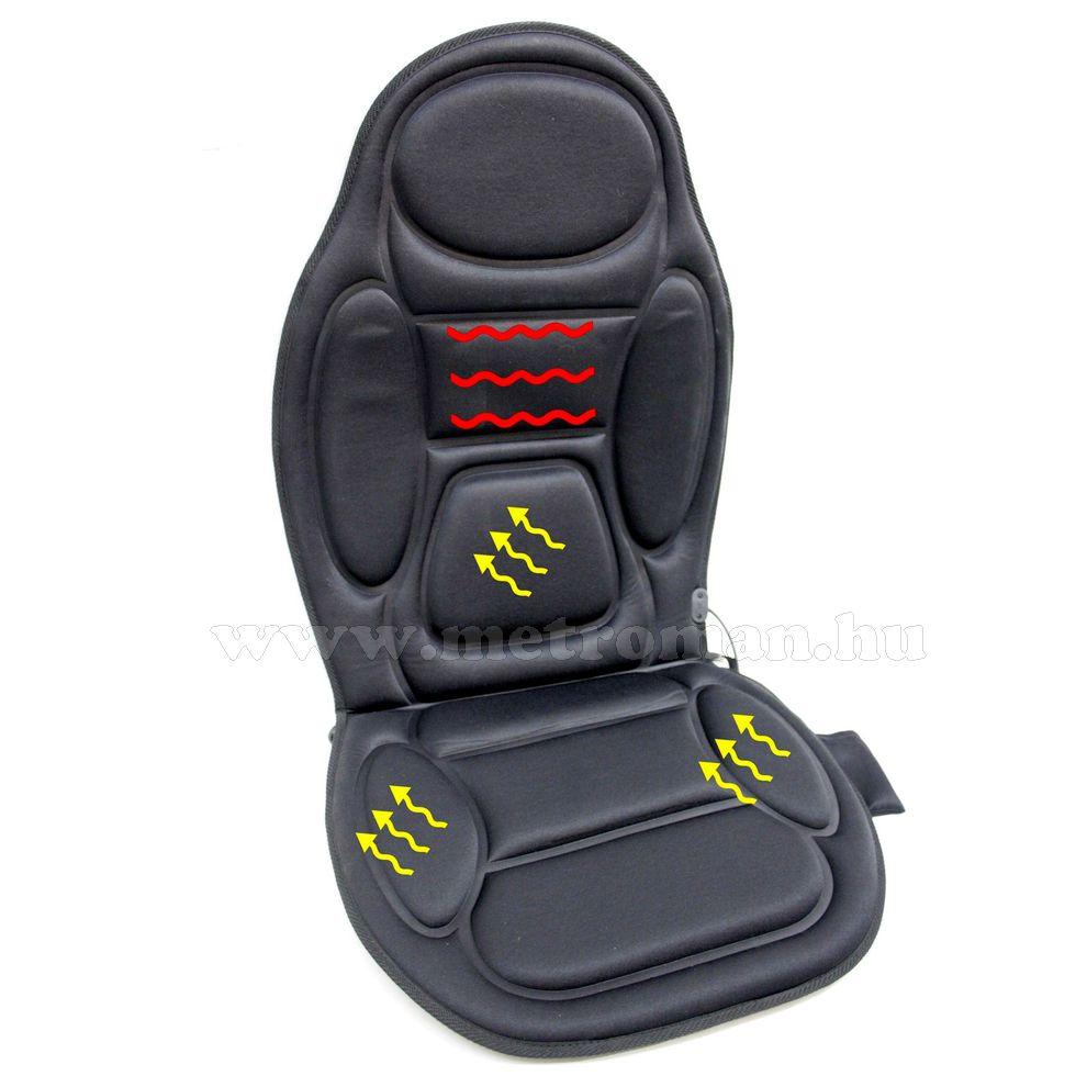 Autós masszázs ülésborító, hátmelegítő funkcióval, Alpin 74300