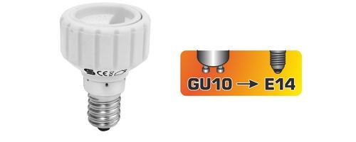 GU10/E14 Foglalat átalakító adapter