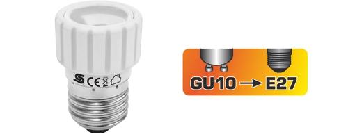 GU10/E27 Foglalat átalakító adapter