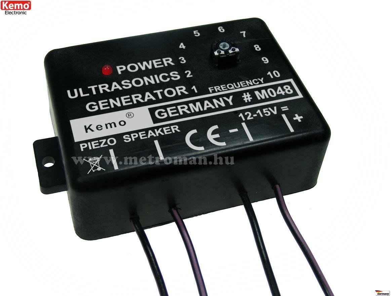 Ultrahangos, 4 hangszórós kisállat riasztó csomag Kemo M048EX