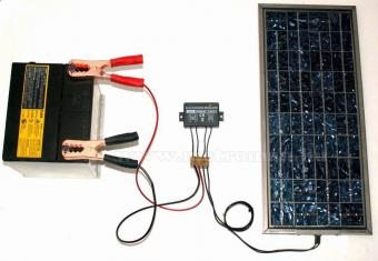 Solar töltésvezérlő, feszültségszabályzó 12V/6A, KEMO M149