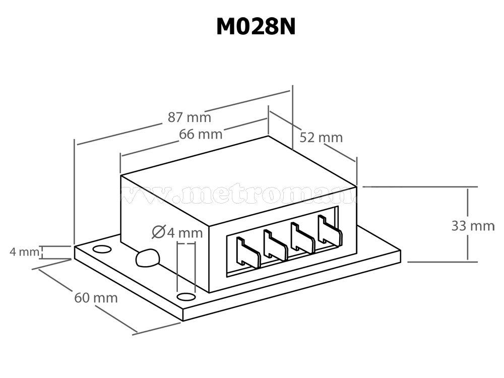 Teljesítmény - fordulatszámszabályzó, 230 Volt / 4000 Watt, Kemo M028N