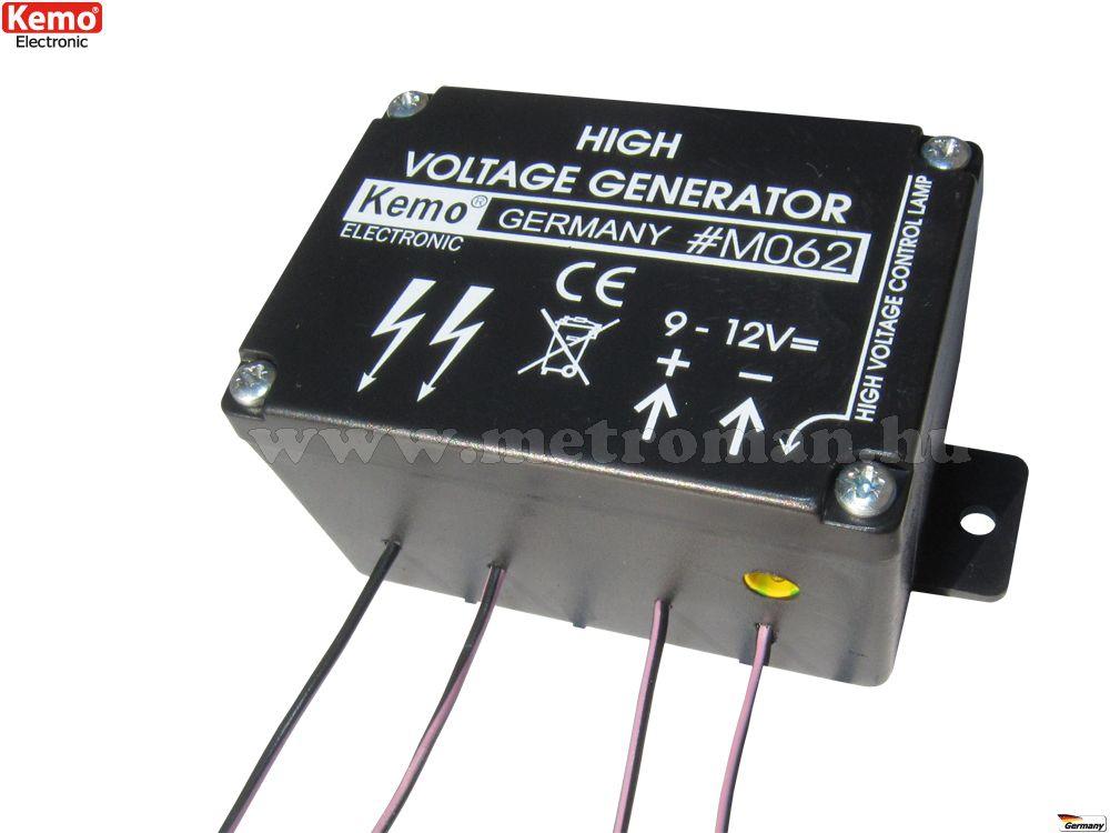 Mini villanypásztor - nagyfeszültség generátor, Kemo M062