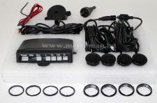 Tolatóradar, 4 extra szenzorral, hangjelzéssel, GE-2605 , fekete színű érzékelőfejekkel