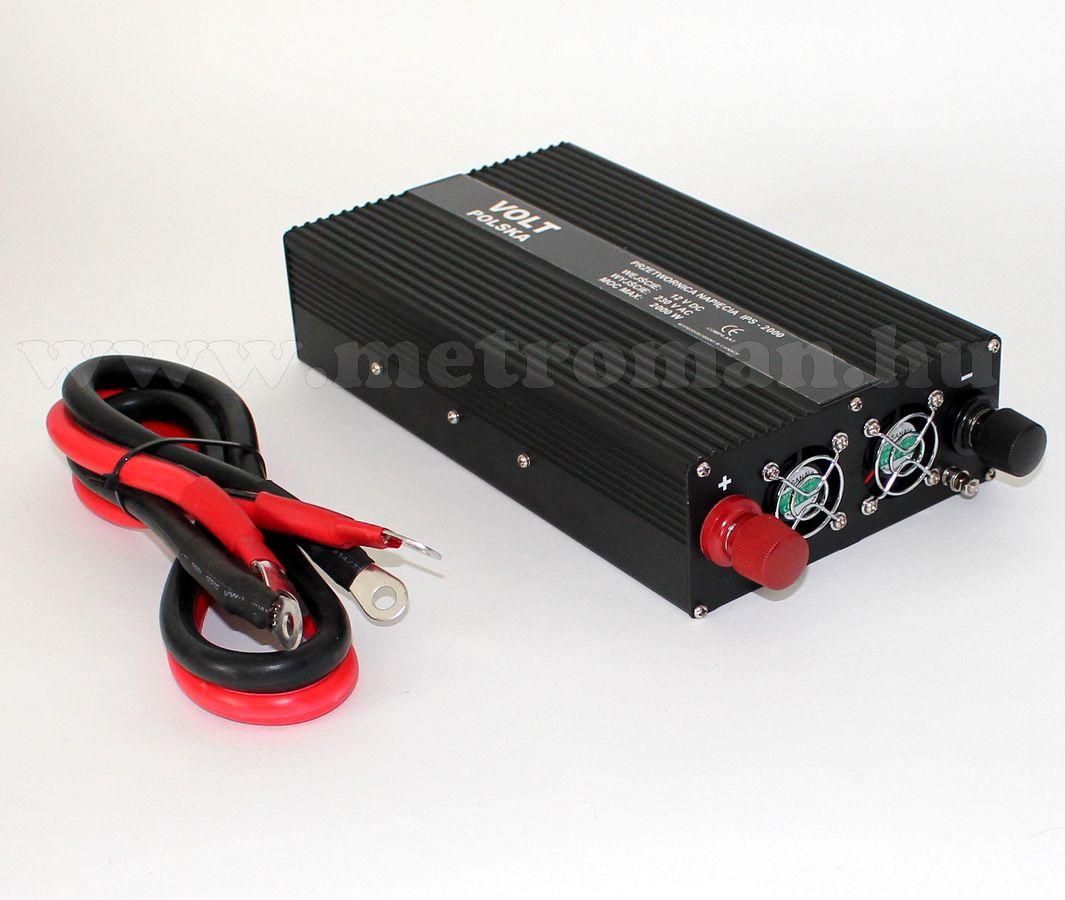 Feszültségátalakító , inverter  , 1500 W  24 / 230 Volt,  IPS2000, ( francia csatlakozós )