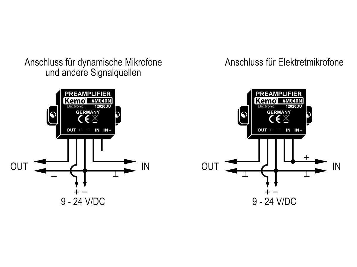 Univerzális mikrofon előerősítő modul, KEMO M040