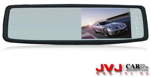 Autós tükör LCD monitor, JVJ TM-4318