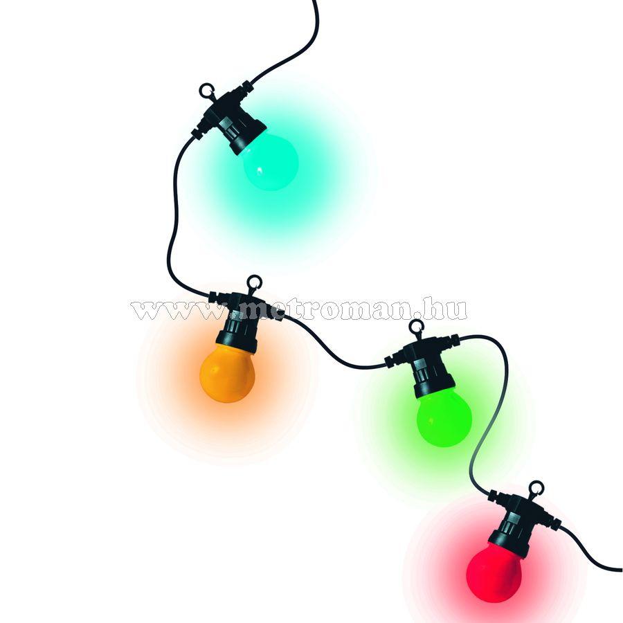 LED kültéri fényfüzér, 30 gömb, 15 m, színes, LPL 30
