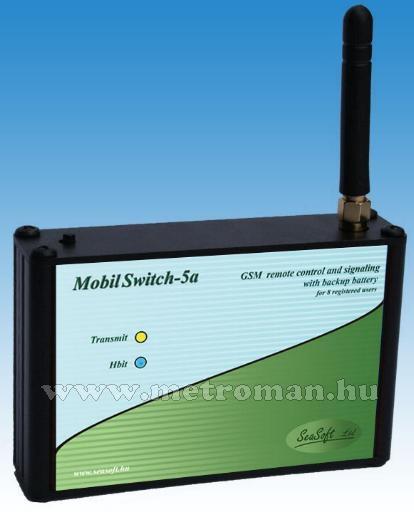 GSM telefonhívó és távirányító, riasztóhoz és önálló távvezérlésre, MobilSwitch-5AD