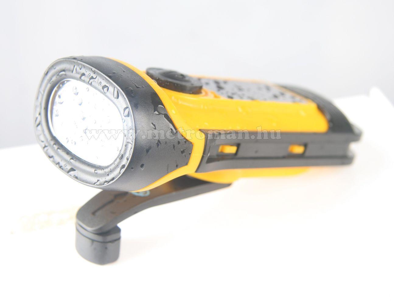 Evolve Twister napelemes - dinamós vízálló LED lámpa