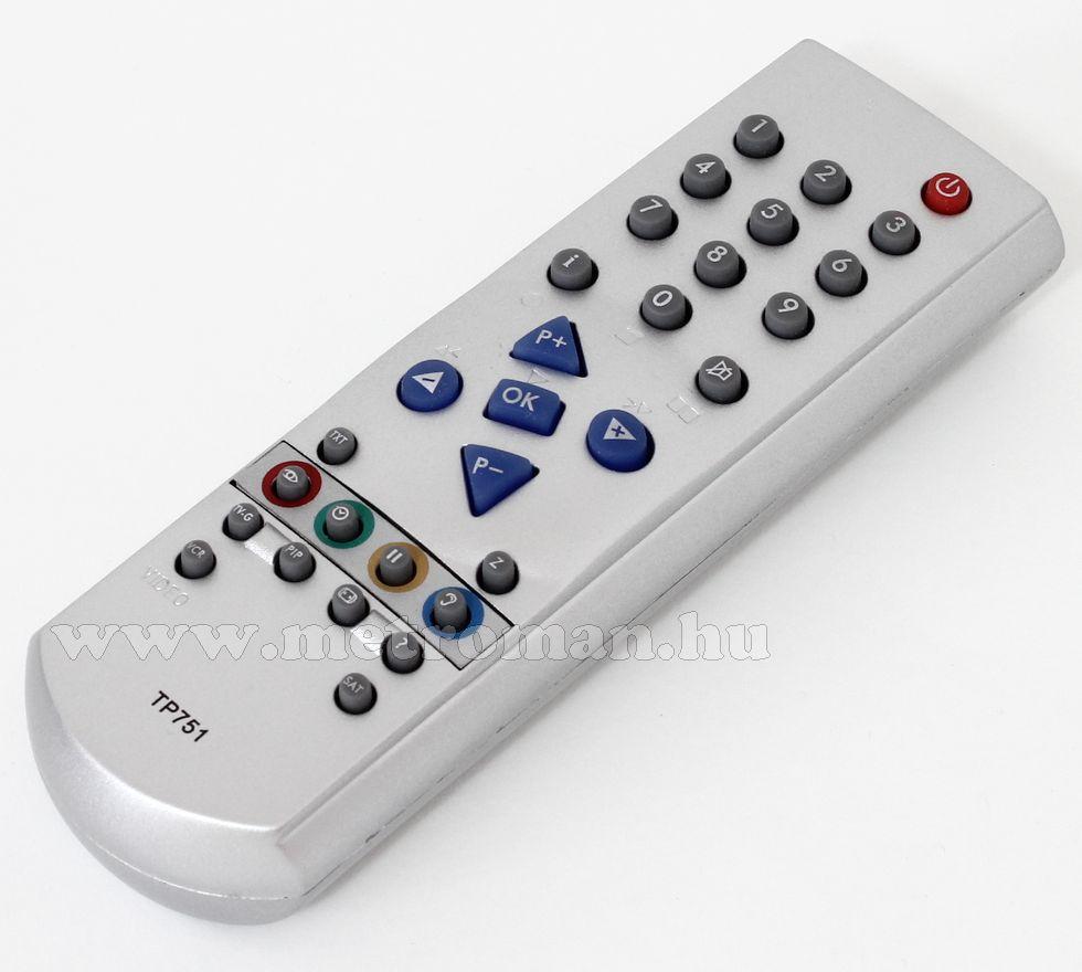 Utángyártott TV távirányító, Grundig TP 751C ezüst