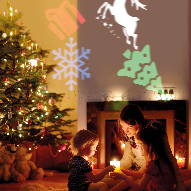 Elemes LED projektor hangulatfény karácsony halloween születésnap motívummal M4909