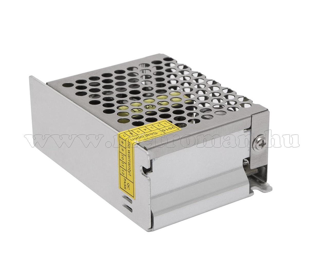Fémházas, beépíthető, ipari tápegység 230/12 V 2 Amper