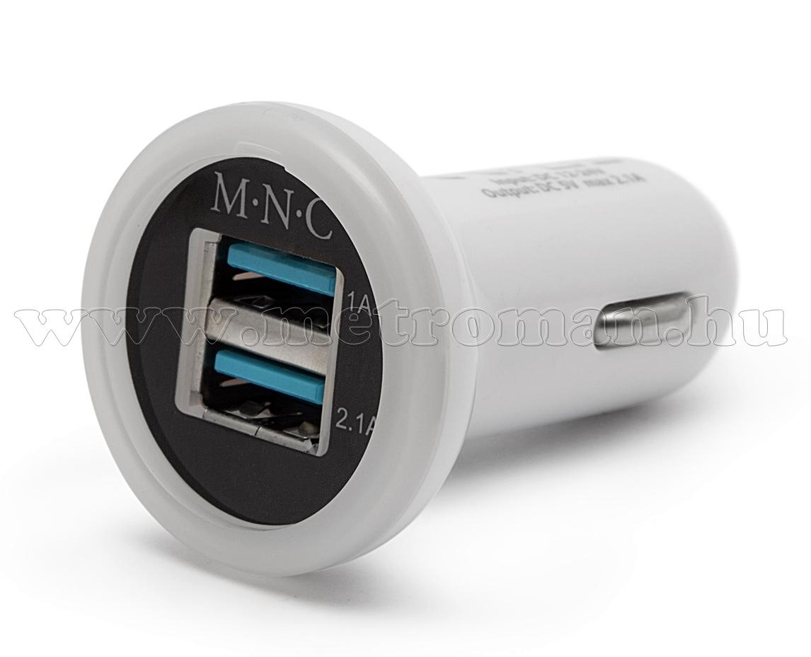 Autós, szivargyújtós USB töltő 55027WH