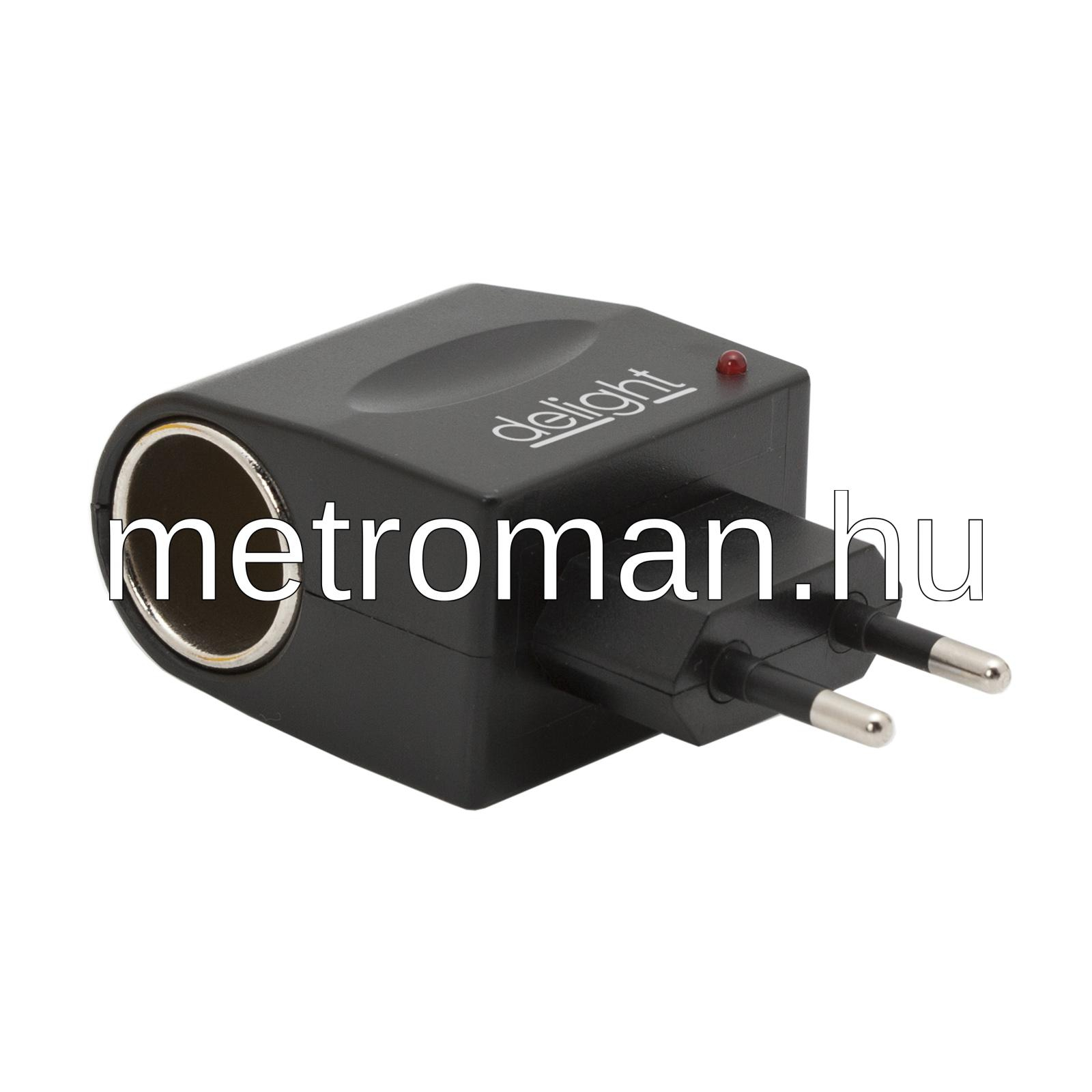 Hálózati adapter szivargyújtó aljzattal 55048