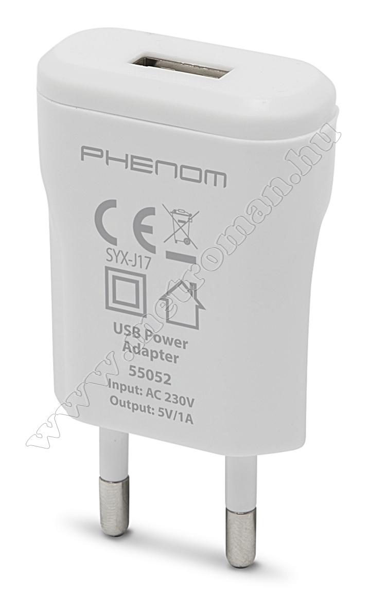 USB töltő, hálózati adapter 55052