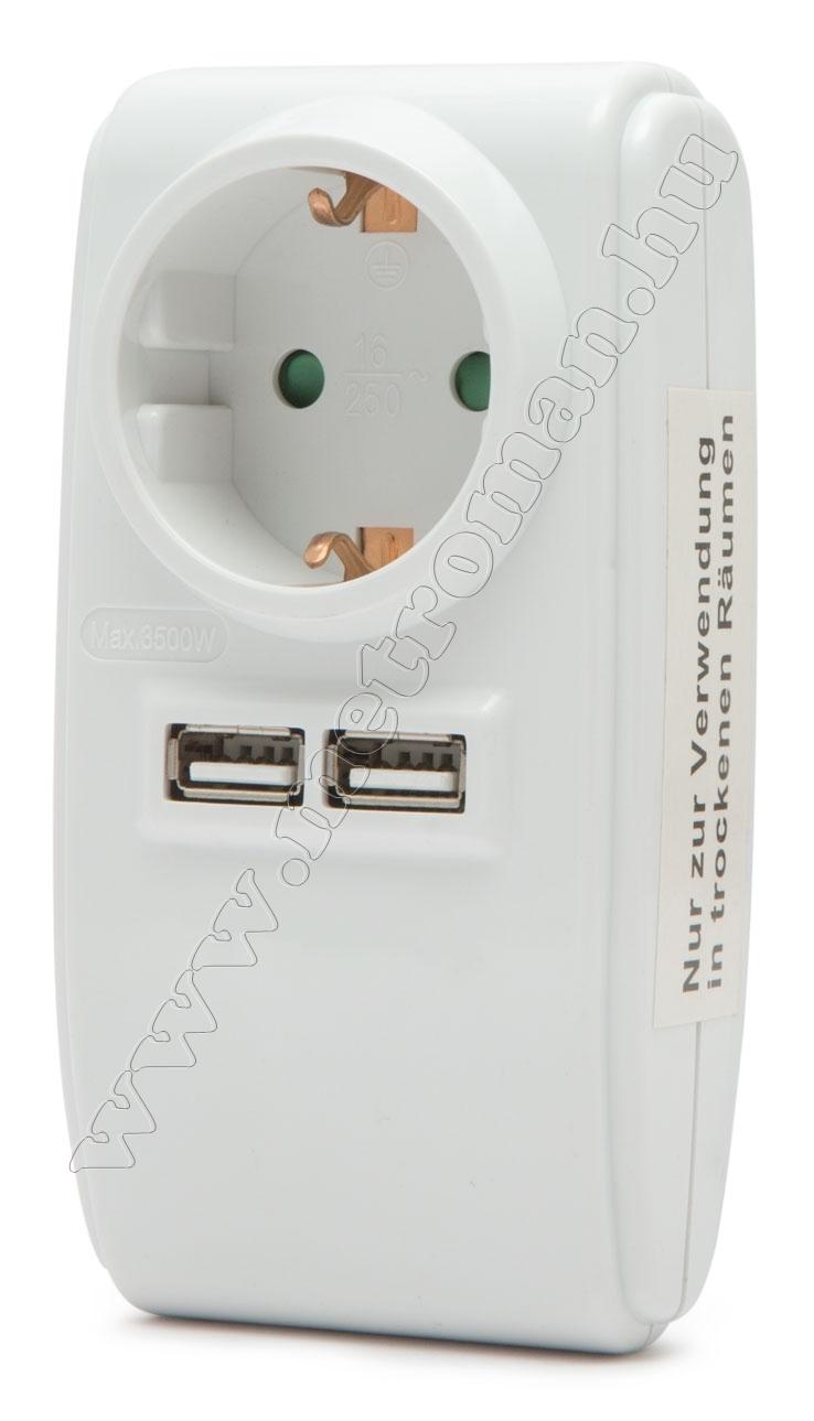 Hálózati USB töltő adapter, 3 A 55122