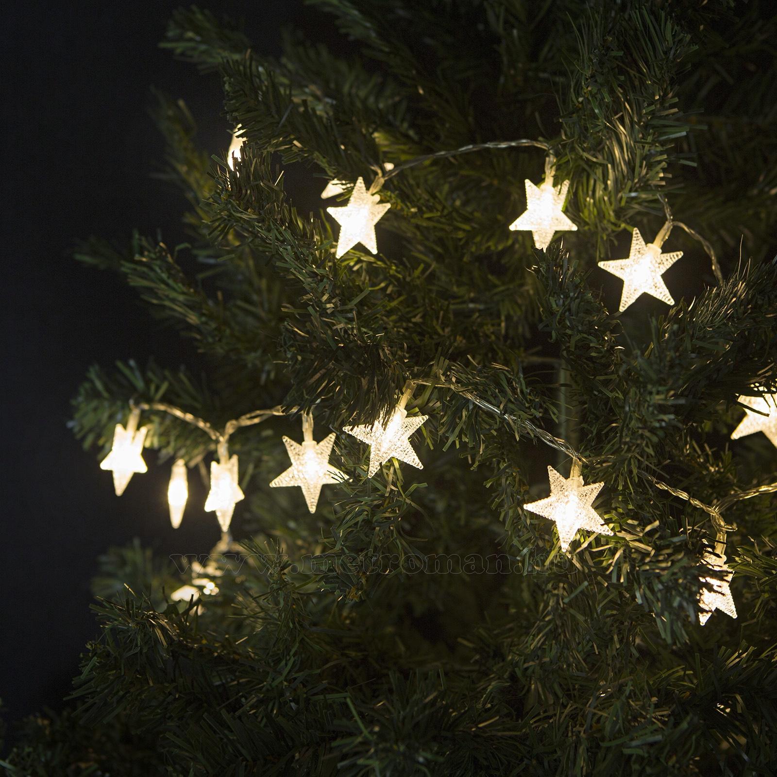 Csillag Karácsonyi LED égősor, Fényfüzér, M55242 Meleg Fehér