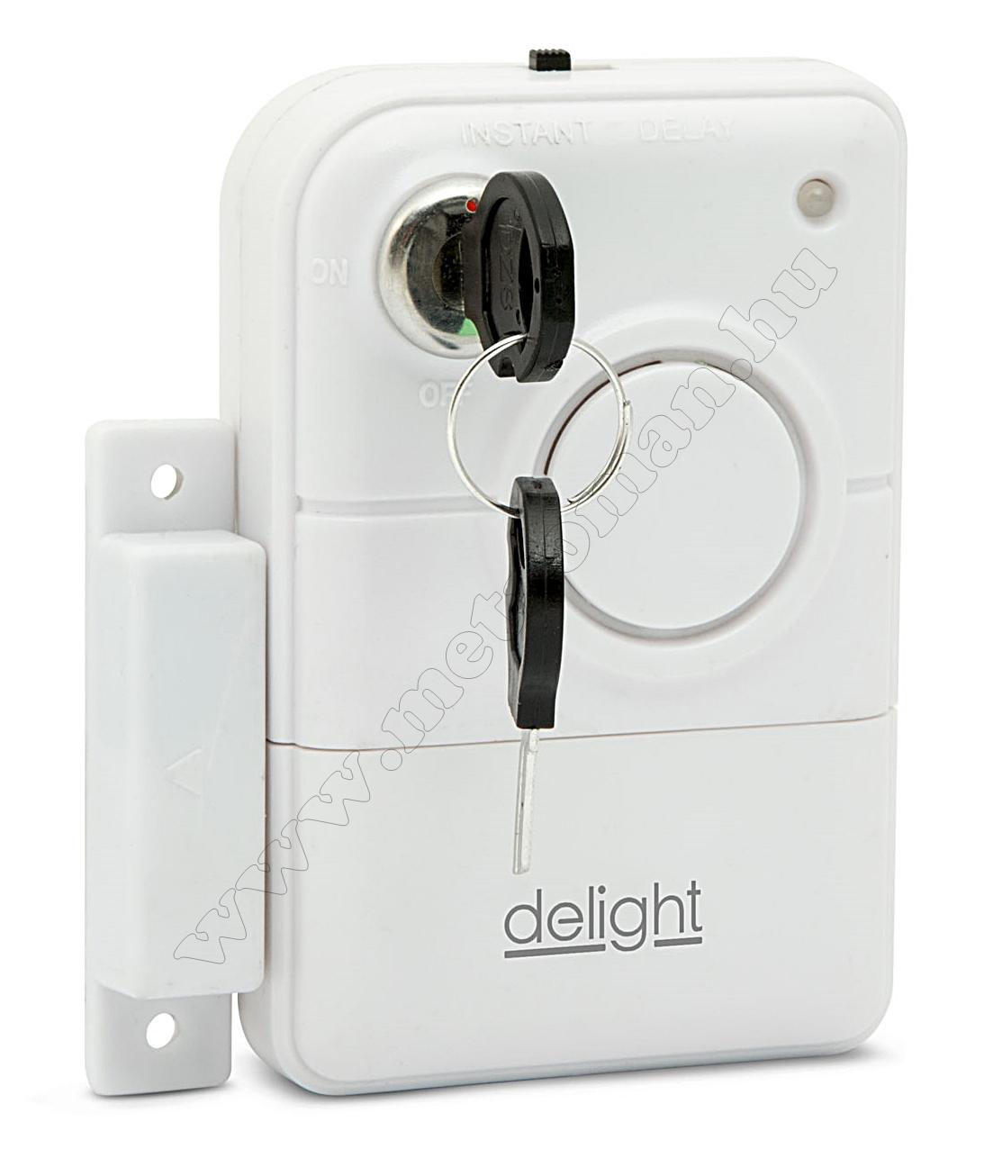 Nyitásérzékelő, riasztó, kulccsal Delight 55299