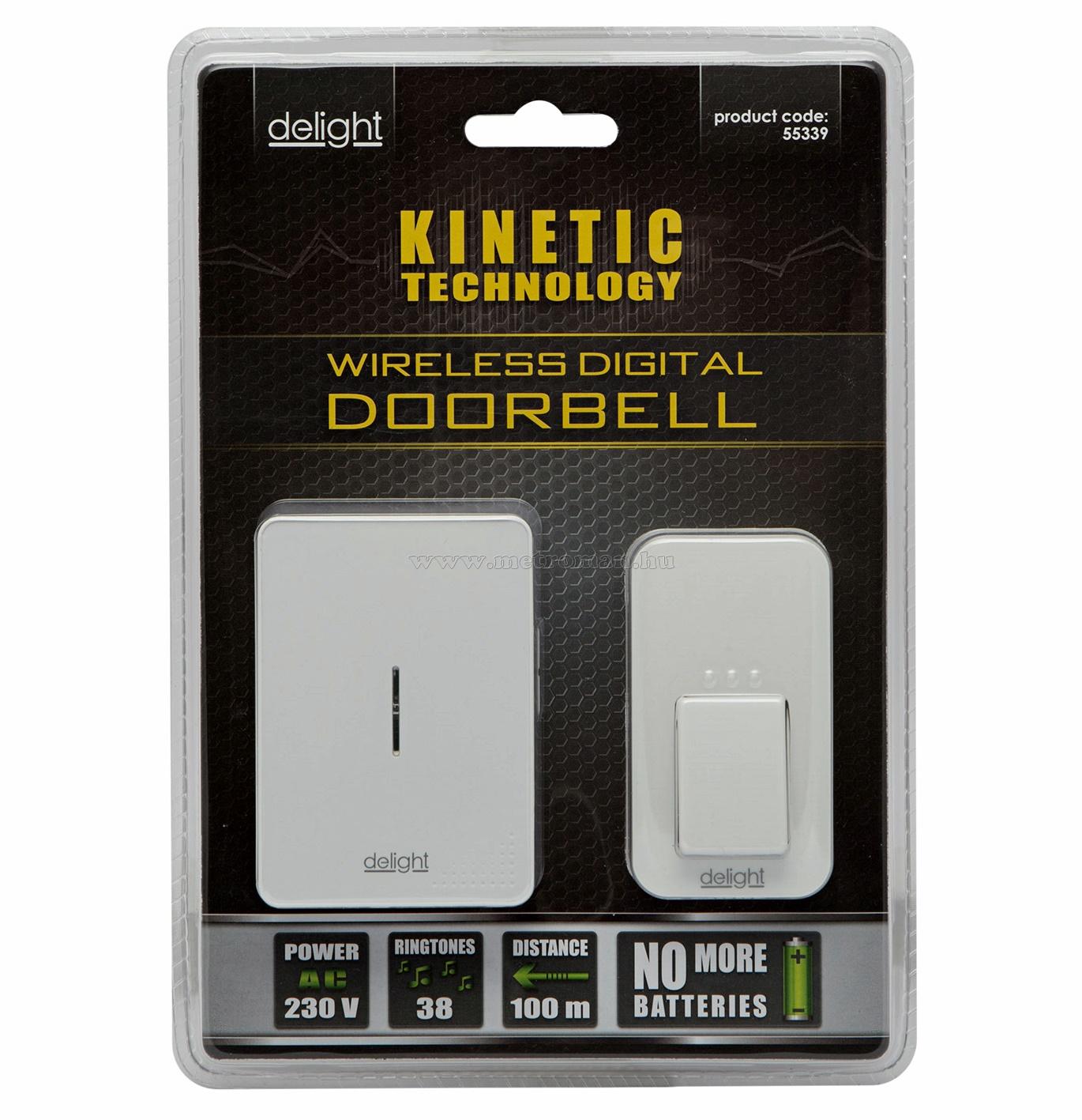 Kinetic Elem nélküli vezeték nélküli csengő Delight 55339