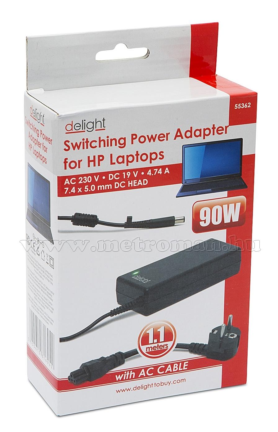 HP laptop töltő, adapter 55362