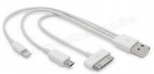 USB telefon töltőkábel 3in1 55429