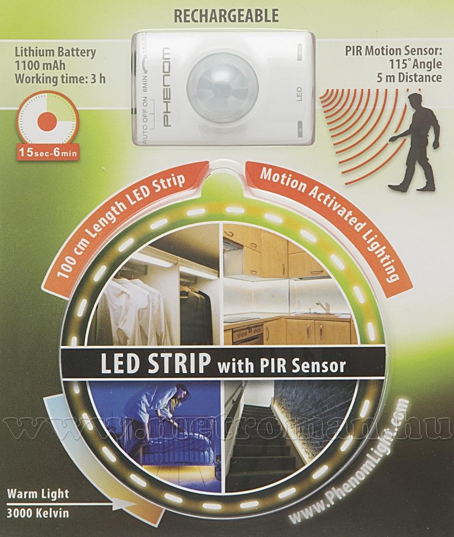 LED szalag mozgásérzékelővel, akkus 55856