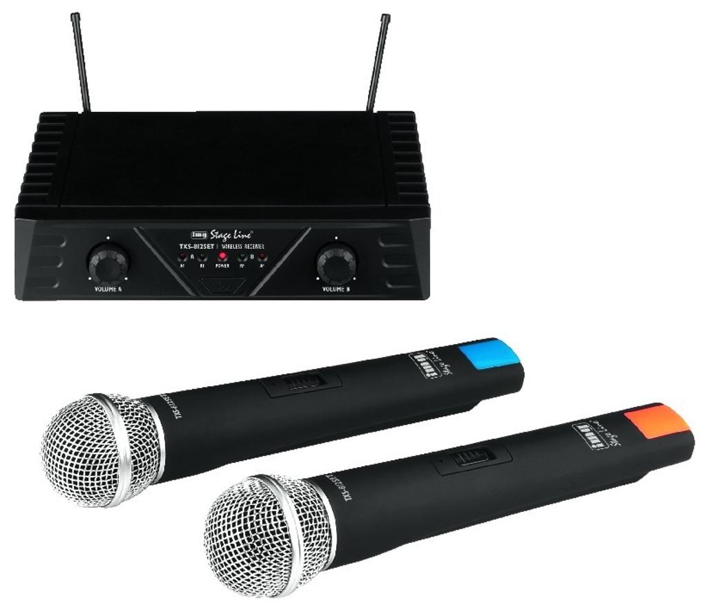 Vezeték nélküli mikrofon 2 db kézi mikrofonnal ,  StageLine TXS-812SET