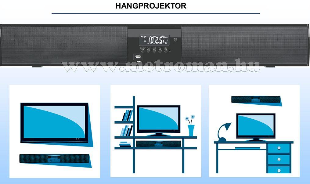 3D hangprojektor, aktív hangfal LCD, LED TV-hez, SB X810