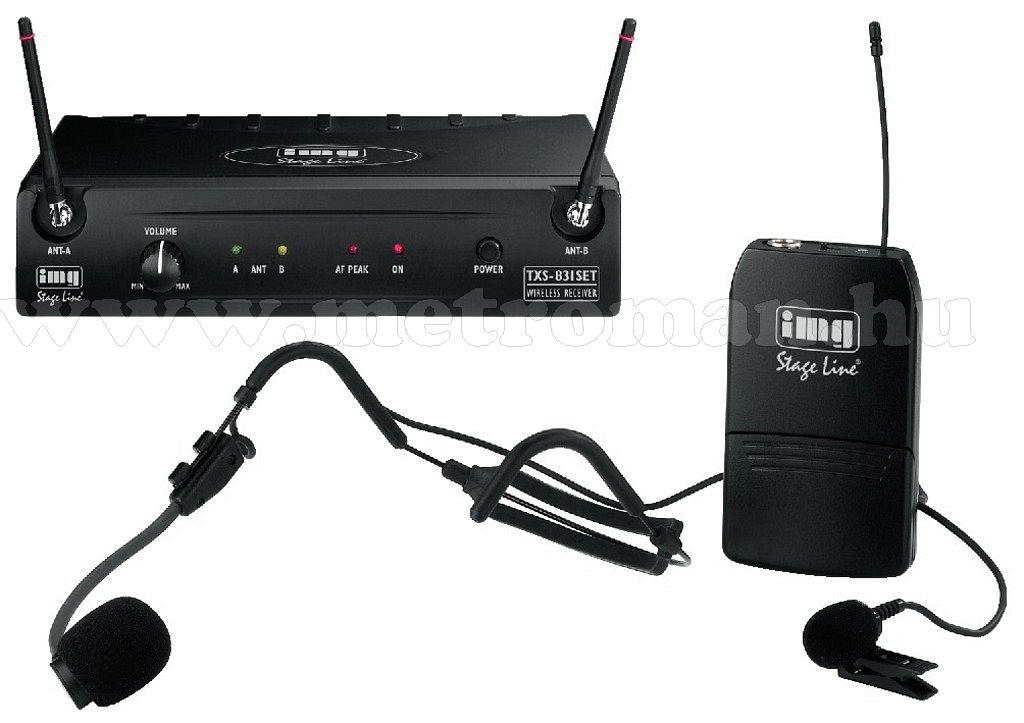 Vezeték nélküli mikrofon,  Multi frenvenciás, StageLine TXS-831SET