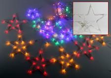 Karácsonyi LED fényfüzér színes csillag 58042A