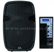 Aktív zenekari, DJ és Karaoke hangszóró, USB/SD/MP3 lejátszóval PAX 40PRO/A