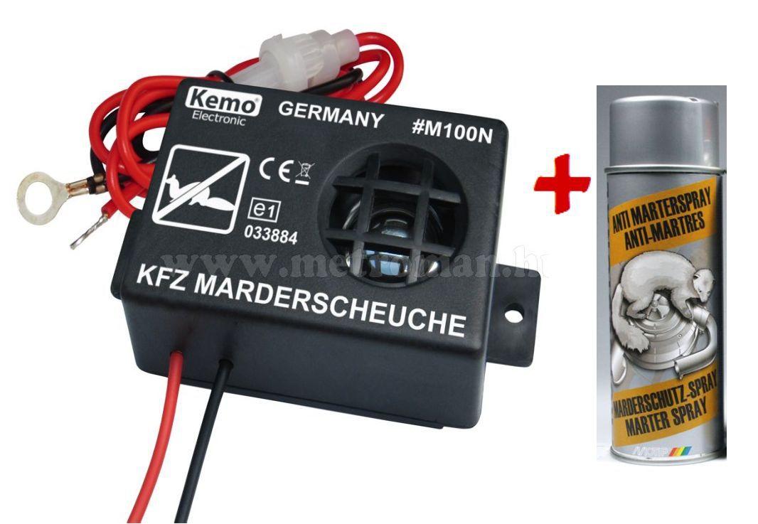 Ultrahangos , autós nyestriasztó  , Kemo M100N + Motip nyestriasztó spray 500ml