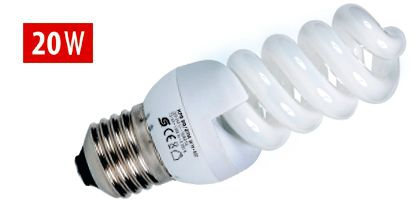 Energiatakarékos kompakt fénycső, spirál KFS 20/27H