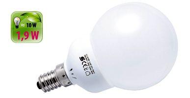 Energiatakarékos LED izzó labda LL 1.9/14M