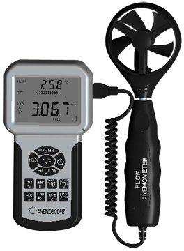 Digitális szélerősség, légáramlás és hőmérséklet mérő HOLDPEAK 856A