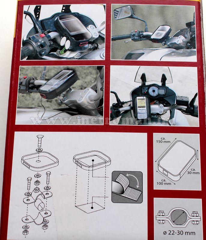 Motoros PDA, Navigáció és telefon tartó Wheels Multi PDA