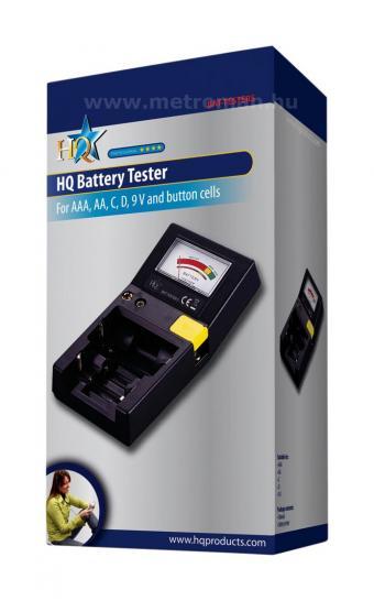 Asztali elem, akkumulátor és izzó  teszter  BAT-TESTER5