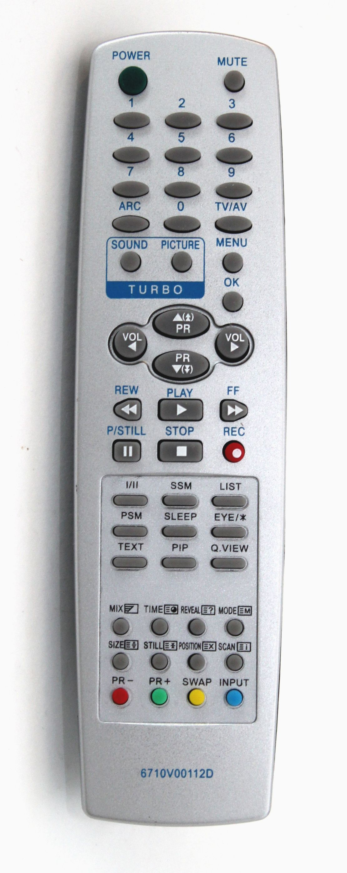 Utángyártott TV távirányító LG 6710V00112D