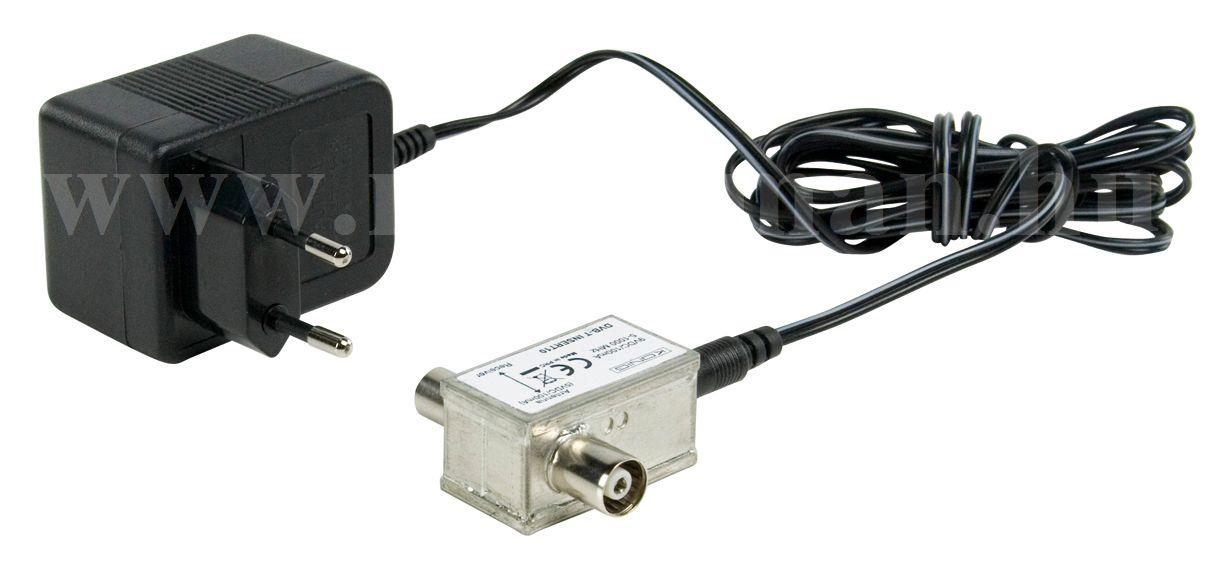 Tápfeladó erősítős antennákhoz, DVB-T-INSERT10