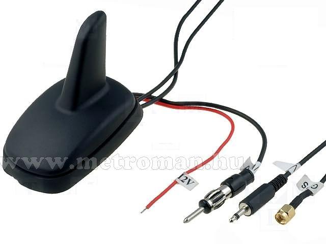 Autó DVB-T TV, GPS és rádió antenna Shark S11
