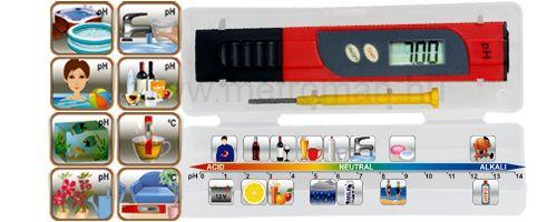 pH TESZTER és Hőmérő PHT-01