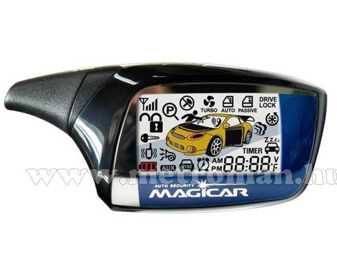 Kétirányú, LCD személyhívós autóriasztó távindítással, Magicar 880AS.
