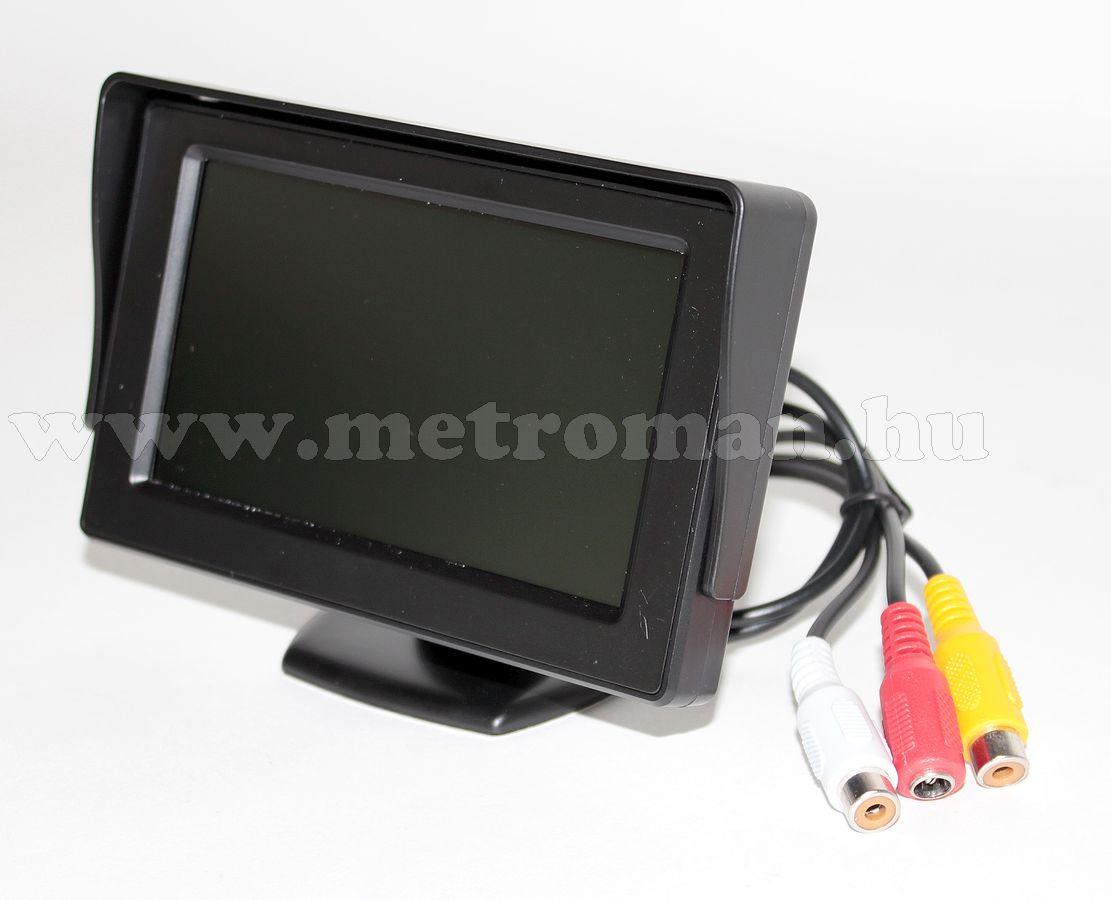 """Univerzális 4,3""""-os TFT LCD monitor, tolatókamerához Mlogic CLM0105"""