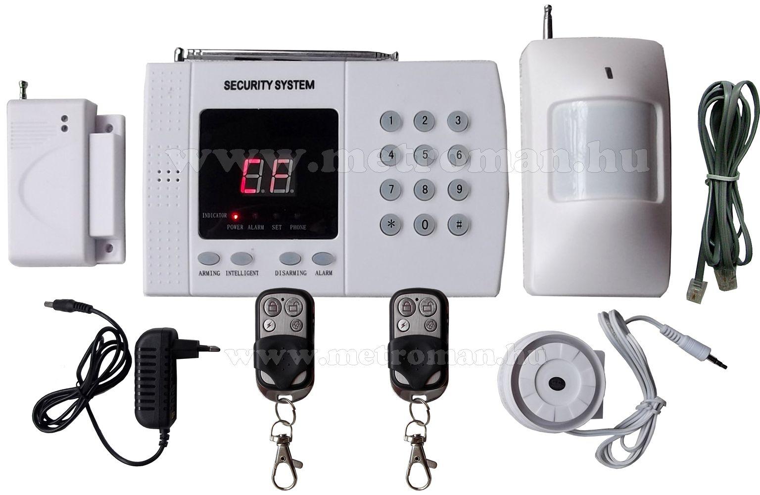 Vezeték nélküli lakásriasztó szett beépített telefonhívóval VIP-802