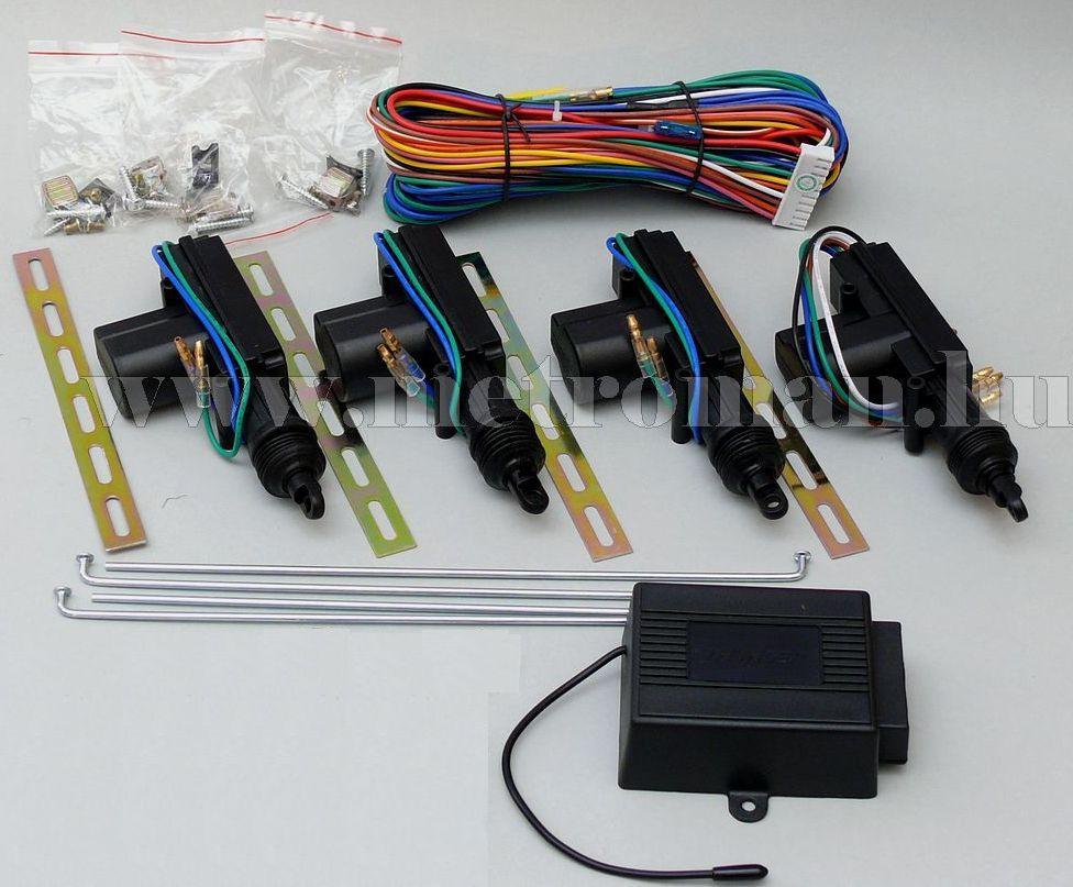 Távirányítós 4 ajtós központi zár csomag MMT308 távirányítóval