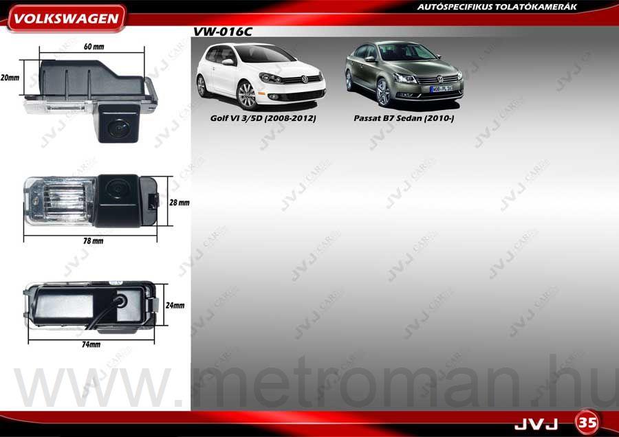 Tolatókamera Volkswagen JVJ VW-016C