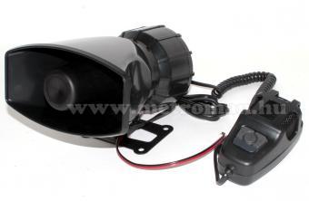 Elektronikus autós 3 hangú sziréna ,  hangosbeszélő, ES16